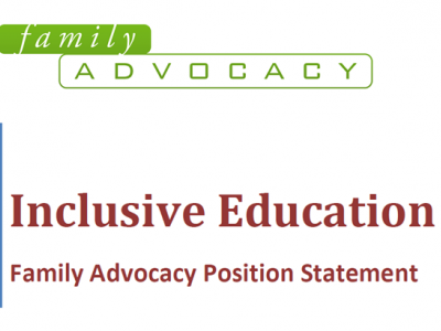 Family Advocacy Inclusive Education position statement