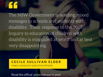 Gov sends mixed messages to schools and students with disability
